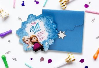 Invitatie Botez desene animate Frozen - Regatul de Gheata