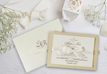 Invitatie nunta 2 buc cu plic inclus