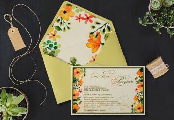 Invitatii nunta cu flori