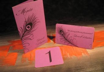 Set decor pentru masa de nunta cu placecard, numar masa si meniu