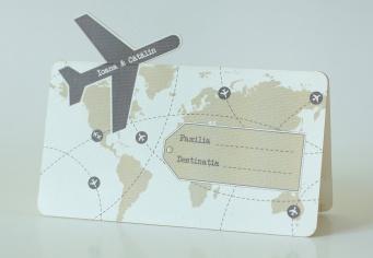Placecard turism cu avion decupat