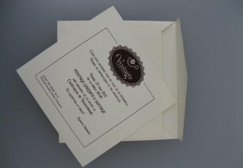 Invitatie cu plic Vintage Garden & Lounge