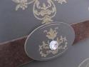 Blazon gravat cu cristal aplicat