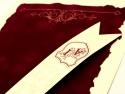 Detalii invitatie de nunta medievala rulata scroll