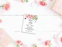 Invitatie personalizata cu flori de camp
