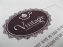Detaliu invitatie vintage