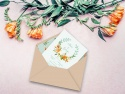 Invitatie nunta cu plic Kraft