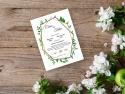 Invitatie nunta cu frunzulite primavaratice