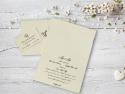 Detaliu interior invitatie nunta personalizata