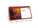 Calendar birou cu 12 file și imagini