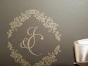 Detaliu gravura exterior - initiale miri