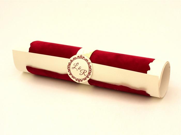 Invitatii nunta rulate in forma de sul scroll