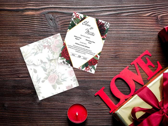 Invitatie nunta florala