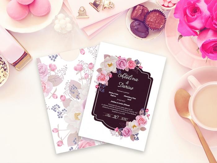 Invitatie de nunta tematica florala