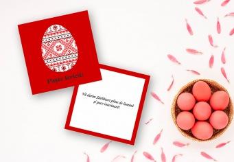 Felicitare de Paste cu oua incondeiate