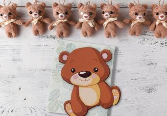 Invitatie Botez cu ursuleti