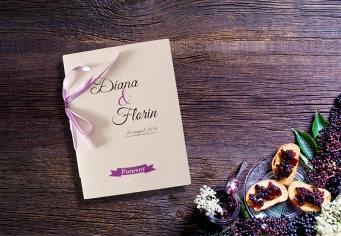 Invitatie nunta tip carticica