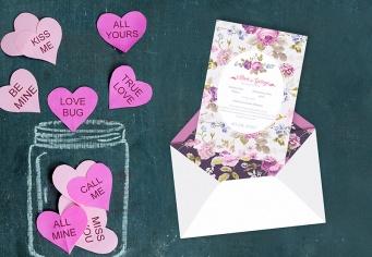 Invitatie nunta cu design primavaratic