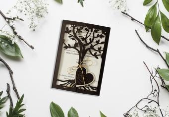 Invitatie cu copac decupat