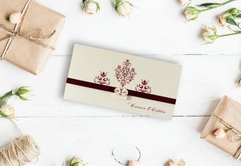 Invitatie nunta de lux cu cristale swarowski