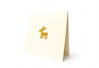 Felicitare Craciun cu renul Rudolf