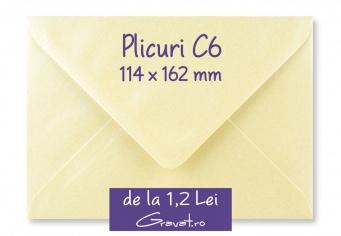 Plicuri pentru Invitatii Nunta C6 114 x 162 mm