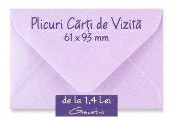 Plicuri Standard Colorate pentru Carti de Vizita, Voucher, Invitatii si Felicitari