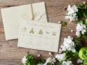 Invitatie eleganta si simpla pentru nunta