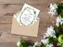 Invitatie de nunta cu plic kraft