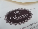 Detaliu elemente invitatie vintag