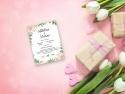 Invitatie de nunta cu flori de primavara