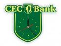 Ceas de perete executat la comanda pentru CEC Bank