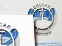 Invitatie business executata la comanda din cartoane speciale si decupata laser