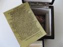 Detaliu scrisoare din piele gravata laser