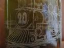 Detaliu personalizare laser sticla