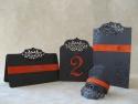 Set decor masa nunta cu meniu, numar de masa, inel prindere servet si placecard