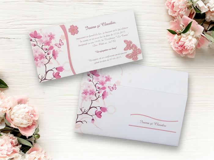 Invitatie cu flori de primavara