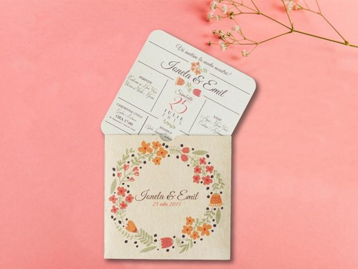 Invitatie nunta personalizata toc