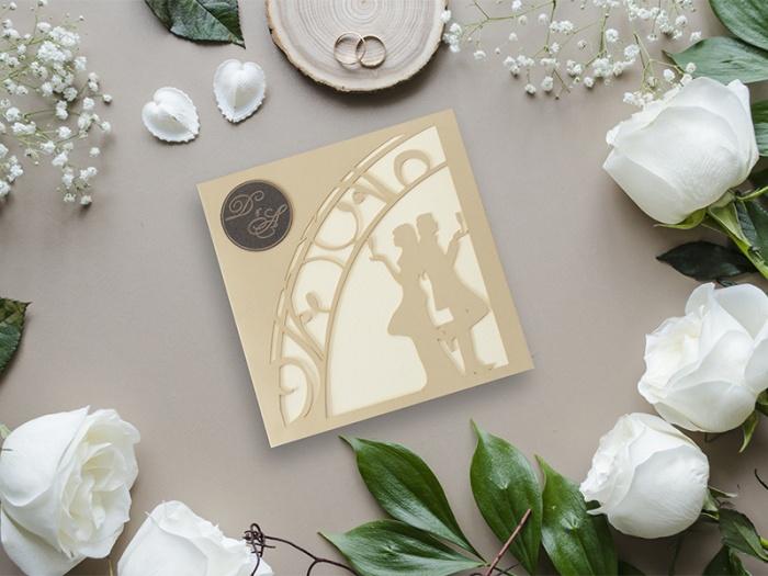 Invitatii nunta personalizate cu plic inclus in pret