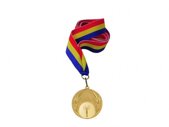 Medalie aur cu tricolor