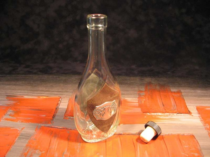 Marturie nunta - sticla personalizata