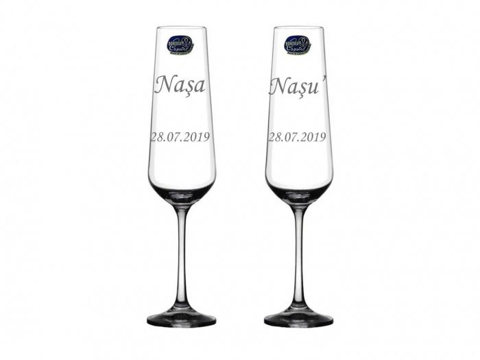 Pahare din cristal gravate nasi N01