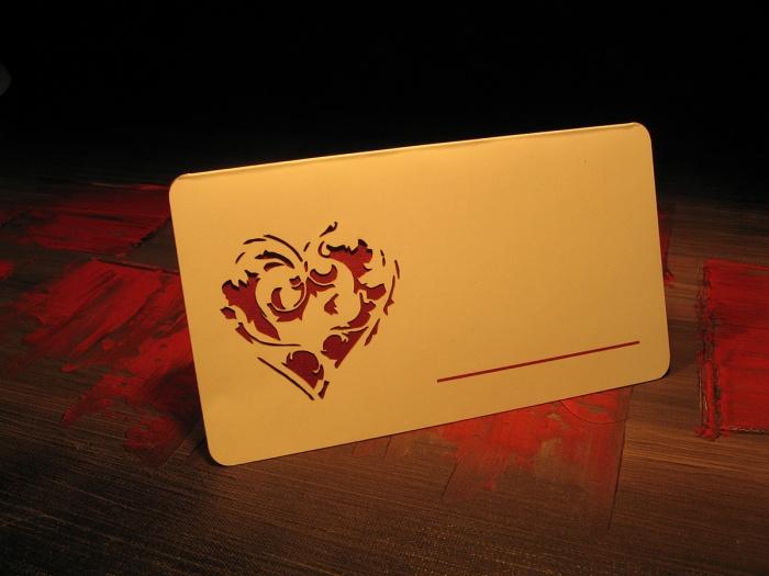 Card pentru masa cu numele nuntasilor