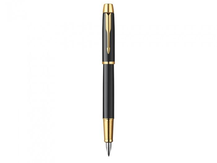 Stilou Parker negru cu auriu personalizat